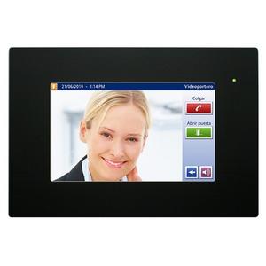 DW-HC2-KNX-B, Iddero HC2-KNX 7 TOUCH PANEL, mit integriertem Web Server und Video-Türsprechanlage Funktion mit Frontrahmen in schwarz