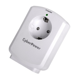 CYBERPOWER ESSENTIAL B01WSA0 Surge Protector with 1 Outlets 150J EPP Insurance 25.000 colour white