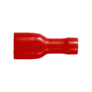 Flachsteckhülsen, vollisoliert, rot