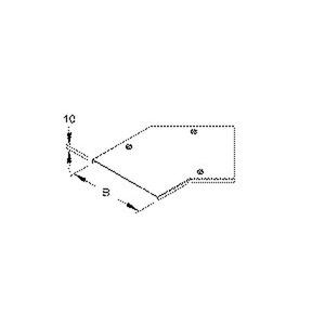RBADV 200, Deckel für Bogen 45° für KR, Breite 204 mm, mit Drehriegel, Stahl, bandverzinkt DIN EN 10346