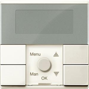 Zeitschaltuhr-Modul, weiß glänzend, System M