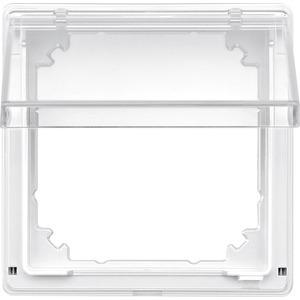 Zwischenring mit transparentem Klappdeckel, polarweiß, AQUADESIGN