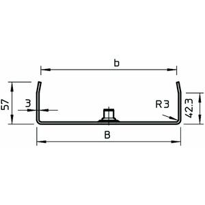 MAH 60 150 FS, Mittenabhängung für Kabelrinne B150mm, St, FS