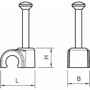 2012 35 SW, ISO-Nagel-Clip 12mm, L35, PP, tiefschwarz, RAL 9005
