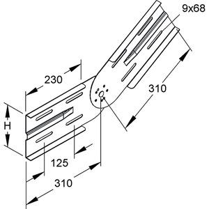 WSGV 150 E3, Gelenkverbinder, vertikal, Höhe 151,5 mm, Edelstahl, Werkstoff-Nr.: 1.4301, 1.4303, inkl. Zubehör