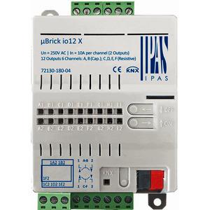 72130-180-04, IPAS uBrick o12X, Multifunktionsaktor mit bis zu 12 digitalen Ausgängen (12 x Schalten/6 x Antriebe) 10A, (8 resistive, 4 kapazitive)