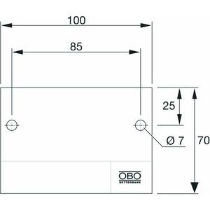 KS-ZSE DE, Kennzeichnungsschild für Zugentlastung, PVC