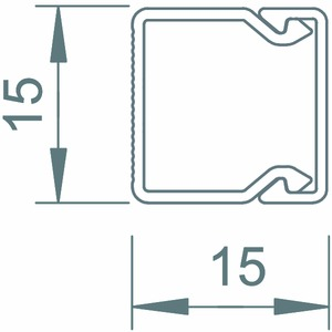 WDK15015GR, Wand- und Deckenkanal mit Bodenlochung 15x15x2000, PVC, steingrau, RAL 7030