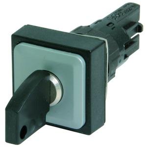 Q25S3R, Schlüsseltaste, 3 Stellungen, schwarz, rastend