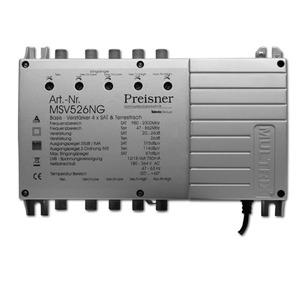 Basisverstärker 4xSAT/terr. 20-26 dB mit Netzteil