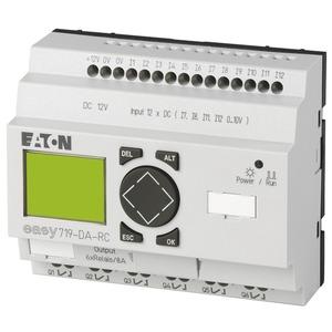 EASY719-DA-RC, Steuerrelais, 12VDC, 12DI(4AI), 6DO-Relais, Display, Uhr, erweiterbar
