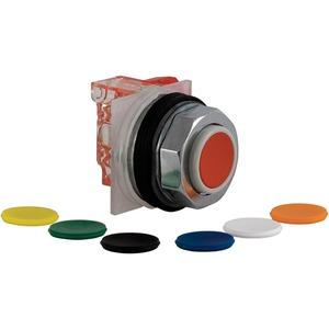 Drucktaster, 7 Farben Ø 30, vorstehend o. Rastung, 1W