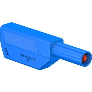 SLS425-SE/M, 4mm Einzelstecker komplett blau