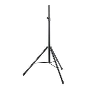 Boxenstativ schwarz, Aluminium, höhenverstellbar von 132-202 cm, bis 35 kg Tragkraft