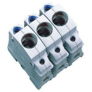 D0-Einbau-Sicherungssockel E 18 / 63 A / 3P berührungsgeschützt nach DGUV V3