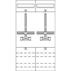 2ZF21, Zählerfeld BH2 2-Feld nicht verdrahtet mit Zählerkreuz