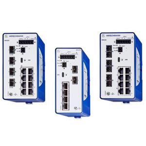 BRS52-00122Q2Q-SPCZ99HHSESXX.X.XX, 12 Port PoE(+) Gigabit-Ethernet Rail Switch, managed