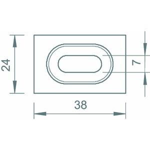 GKT 38 FT, Klemmstück für Gitterrinne zur Trennstegbefestigung, St, FT
