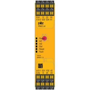 750104, PNOZ s4 24VDC 3 n/o 1 n/c