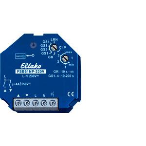FSB61NP-230V, Funkaktor Beschattungselemente und Rollladen 230V. 1+1 Schließer nicht pot.frei 4A/250V AC