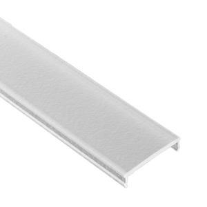 Abdeckung Kunststoff GARLIANO FLACH natur 2m