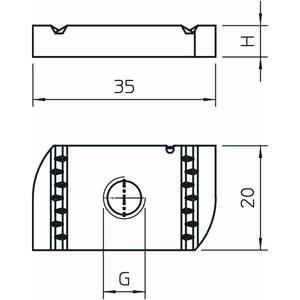 MS41SN M10 A4, Gleitmutter für Profilschiene MS4121/4141 M10, V4A, A4