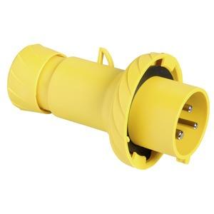 CEE Stecker, Schneidklemmen, 16A, 2p+E, 100-130 V AC, IP67