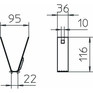 TPB 100 A2, Trapezbefestigung 100x116, V2A, A2
