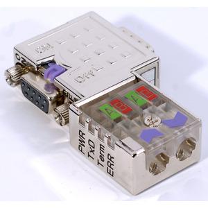 PB_DP-Stecker_90° 12MBit,PG-Bu Diagn.LEDs,schaltb.Abschlußwid