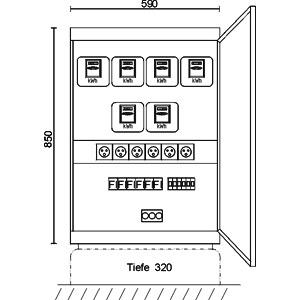 CV 6/6/ZST, Stromverteiler-Schrank für Markt- und