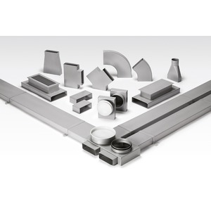 FK 150, FK 150, Flachkanal, 1500 mm lang 150 x 50 mm, Stahlblech verzinkt