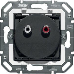 Stereo Audio Steckdose 2 x Cinch (RCA)
