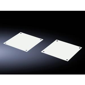 SK 7507.760, Abdeckplatten für Lüfterfelder, für FlatBox, RAL 7035, Preis per VPE, VPE = 6 Stück