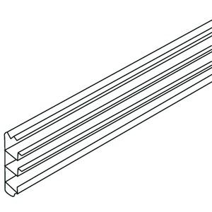 SK70, Sockelleistenunterteil, 69x17,5x2000 mm, Kunststoff PVC-hart, RAL 7030, steingrau