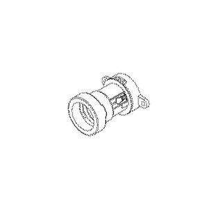 8221B/13, Illuminations-Fassung E27 mit Loch, IP 44, Höhe 53,6 mm, Außen-Ø 37 mm, Elastomere TPE, Farbe schwarz
