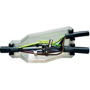 HGAM BAV2-KK, Gießharz-Abzweigmuffe 1 kV, Durchgang 5 x 2,5mm²-25mm², Abzweig 5 x 1,5mm² - 25mm², inkl. Klemmkeil und umweltverträglicher, giftfreier Vergussmasse