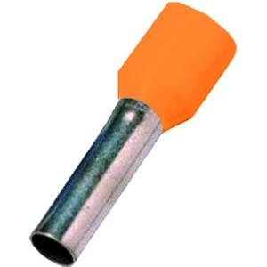 ICIAE418OR, Isolierte Aderendhülse nach DIN 46228 Teil 4, 4qmm 18 mm Länge verzinnt orange