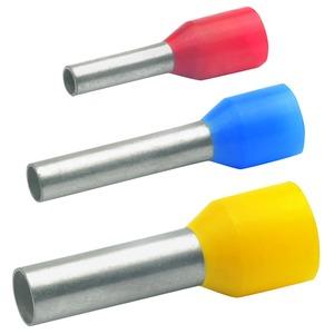 Aderendhülse isoliert, DIN 46228 Teil 4, 10 mm², 12 mm Länge