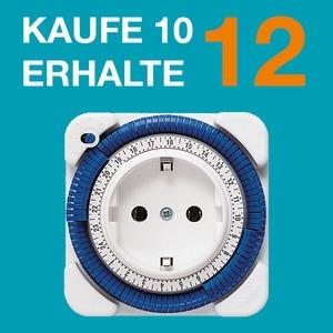 PAKET 10+2, 0260030, Zeitprogrammstecker 24 Std., weiß, Kaufe 10 erhalte 12 x 0260030