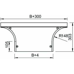 DFAA 600 DD, Deckel Anbau-Abzweigstück mit Drehriegeln, für RAA 600 B600mm, St, DD