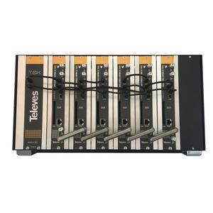 T-0X - Kopfstation 6 x Multiplexumsetzer U3Q2C-S2-CI mit Netzeil im Gehäuse