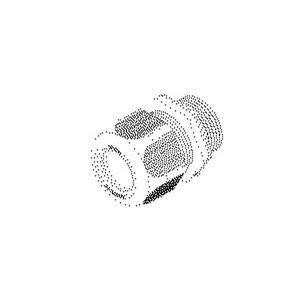 1234P2902, IPON-Kabelverschraubung, Pg 29, für Kabel-Ø 18-25 mm, Kunststoff PA, RAL 7001, silbergrau