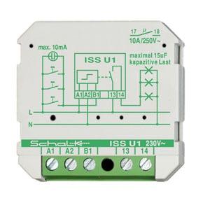 ISS U1, Impulsschalter ISS U1, 230V AC, 1 Schließer, 16A, Unterputz