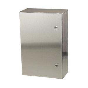 M500500300GSSE, Wandgehäuse GL66 Edelstahl 304 mit Tür und Flanschplatte 500x500x300mm