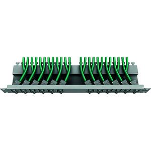 preLink®/fixLink® Panel 19'' 1HE 24x Keystone, RAL7035