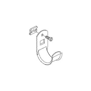 H 70, Kabelhalter, für Kabel-Ø bis 70 mm, Schlitzweite 16-17 mm, Stahl, feuerverzinkt DIN EN ISO 1461, inkl. Zubehör