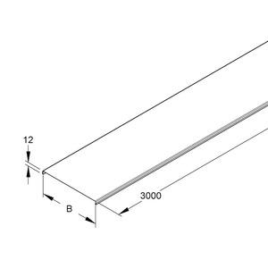 GRD 150 E3, Deckel für Gitterrinne, 148,5x3000 mm, t=0,8 mm, Edelstahl, Werkstoff-Nr.: 1.4301, 1.4303