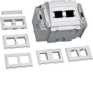 Geräteeinbaudose f Keystone C-Profil cw