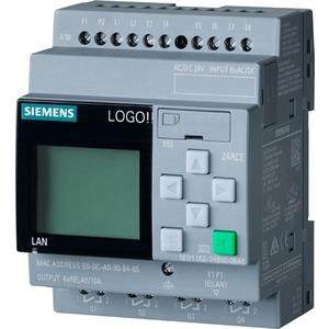 6ED1052-1HB08-0BA0, LOGO! 24RCE, Logikmodul,Display SV/E/A: 24V AC/DC 24V/Relais, 8 DE/4 DA, SP. 400 Blöcke, modular erweiterbar, Ethernet, integr. Web-Server, Datalog, b