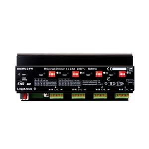 DIM4FU-2-FW, KNX standard universal Dimmaktor 4-fach, Strommessung; Dimmleistung je Kanal 2,5A 250 VAC 570W